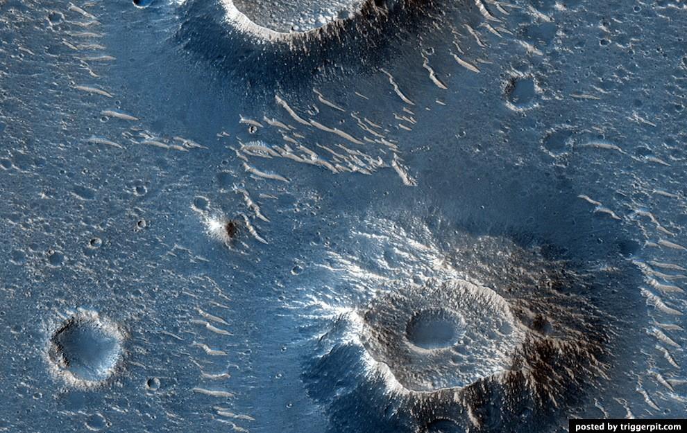 Mars, een zeer kleurrijke planeet.